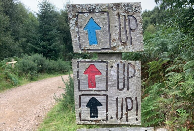 Comrie Croft Trail Sign